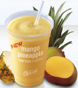 McCafé Mango Pineapple Real Fruit Smoothie Twitter Party en Español!