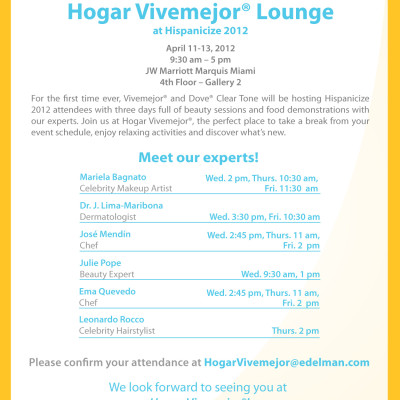Hogar Vivemejor® Lounge en Hispanicize 2012. #Hogarvivemejor