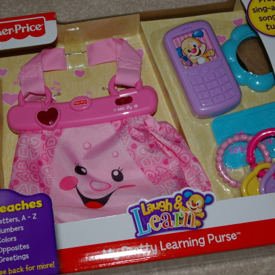 Estilo para las Niñitas con Laugh and Learn My Pretty Learning Purse de Fisher Price. SORTEO