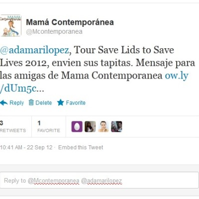 Adamari López, Tour Save Lids to Save Lives 2012