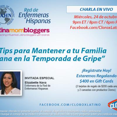 """Chat de Clorox Latino en Facebook: """"Tips para Mantener a tu Familia Sana en la Temporada de Gripe"""" en Español"""