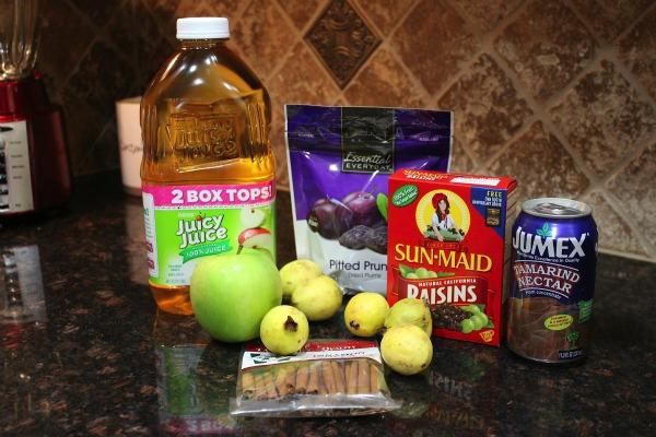 Ponche  de Frutas Navideño Fácil