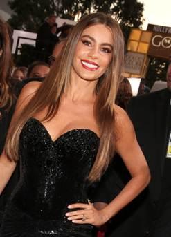 Maquillaje de Sofia Vergara en la Alfombra Roja de Los Golden Globes