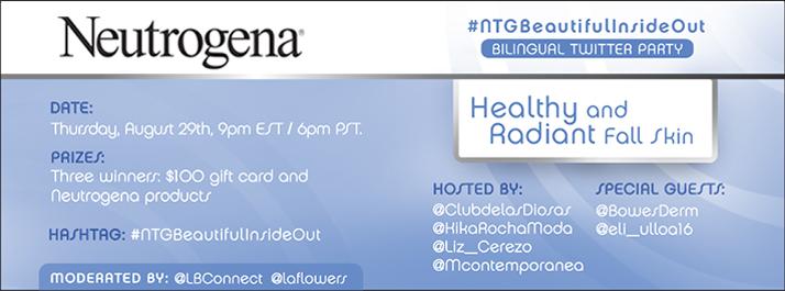 Fiesta en Twitter con Neutrogena – Piel Sana y Radiante para el Otoño