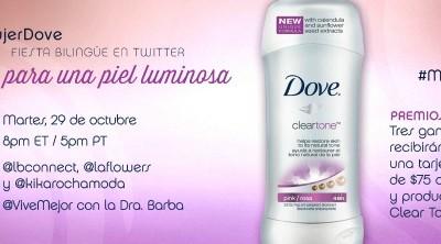 Fiesta en Twitter con Dove Clear Tone #MujerDove