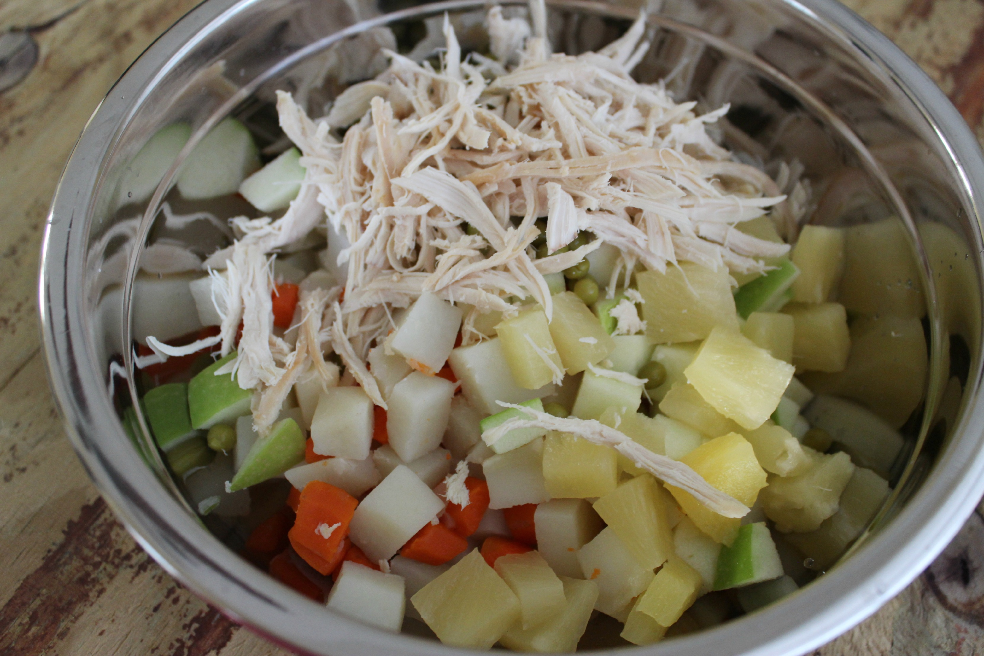 Ensalada de gallina navide a venezolana for Ingredientes para cocinar