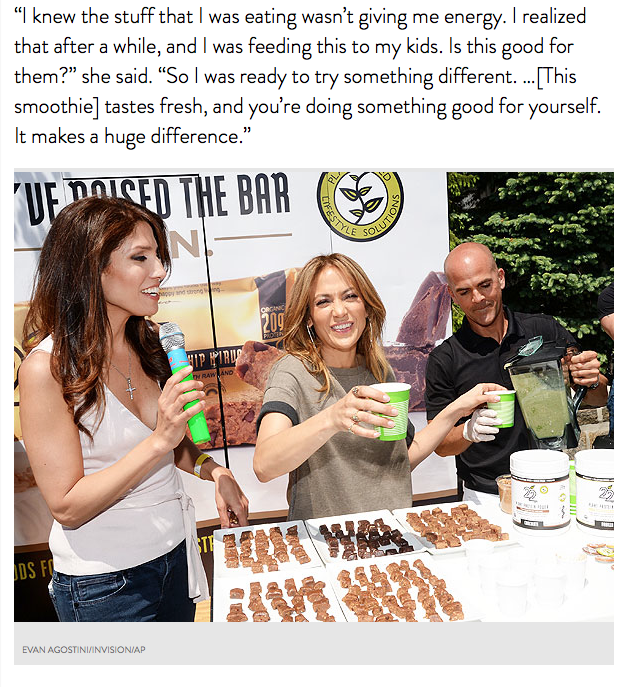 El batido verde milagroso de Jennifer Lopez | Mamá Contemporánea
