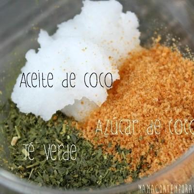 Exfoliante de Té Verde y Coco