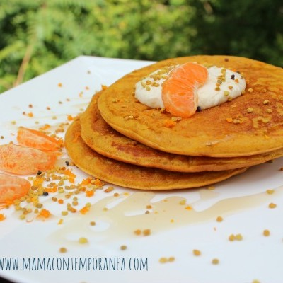 Receta: Panquecas de Zanahoria, Miel y Mandarina
