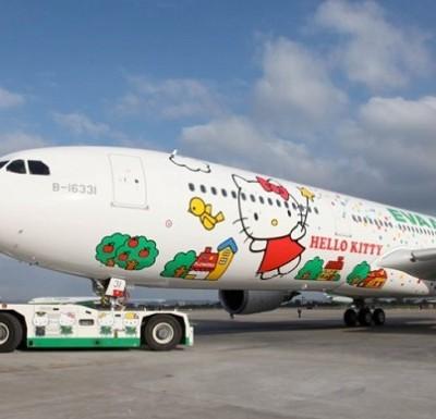 Avión de Hello Kitty Volará de Taipei a Houston en el 2015