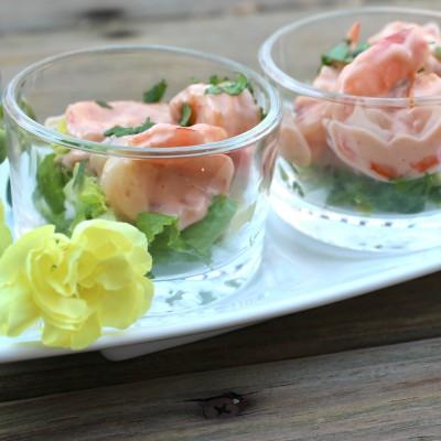 Cóctel de Camarones con Salsa Rosada