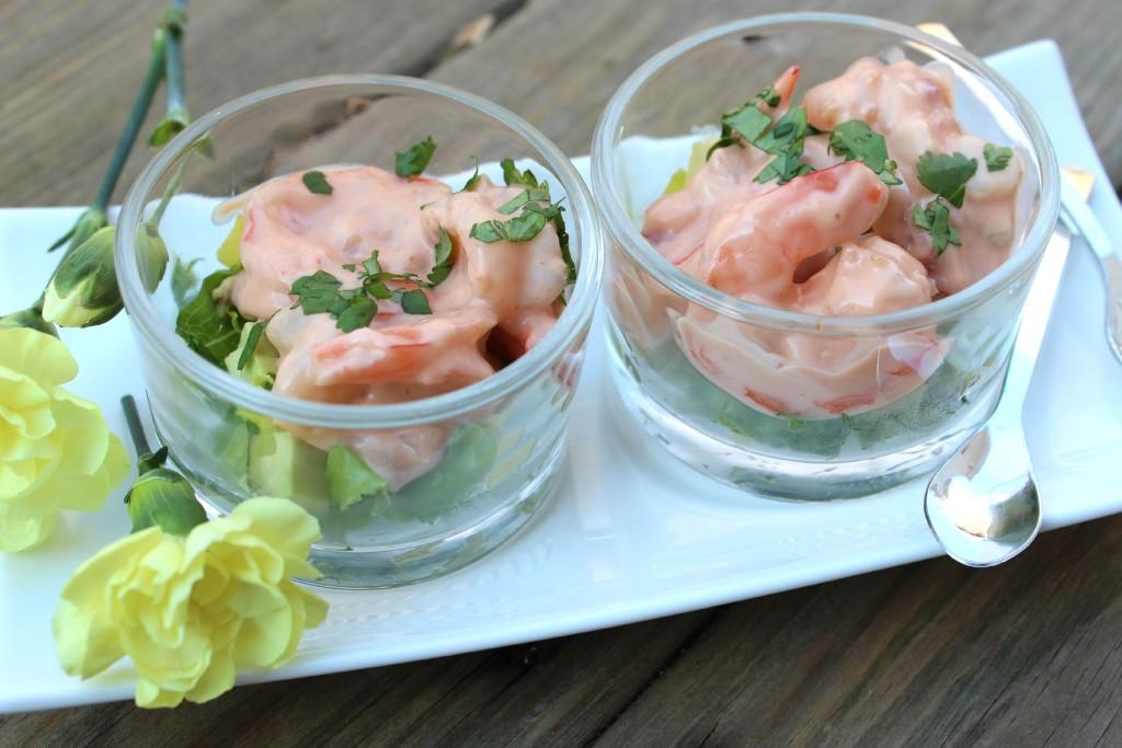 Coctel de Camarones en Salsa Rosada