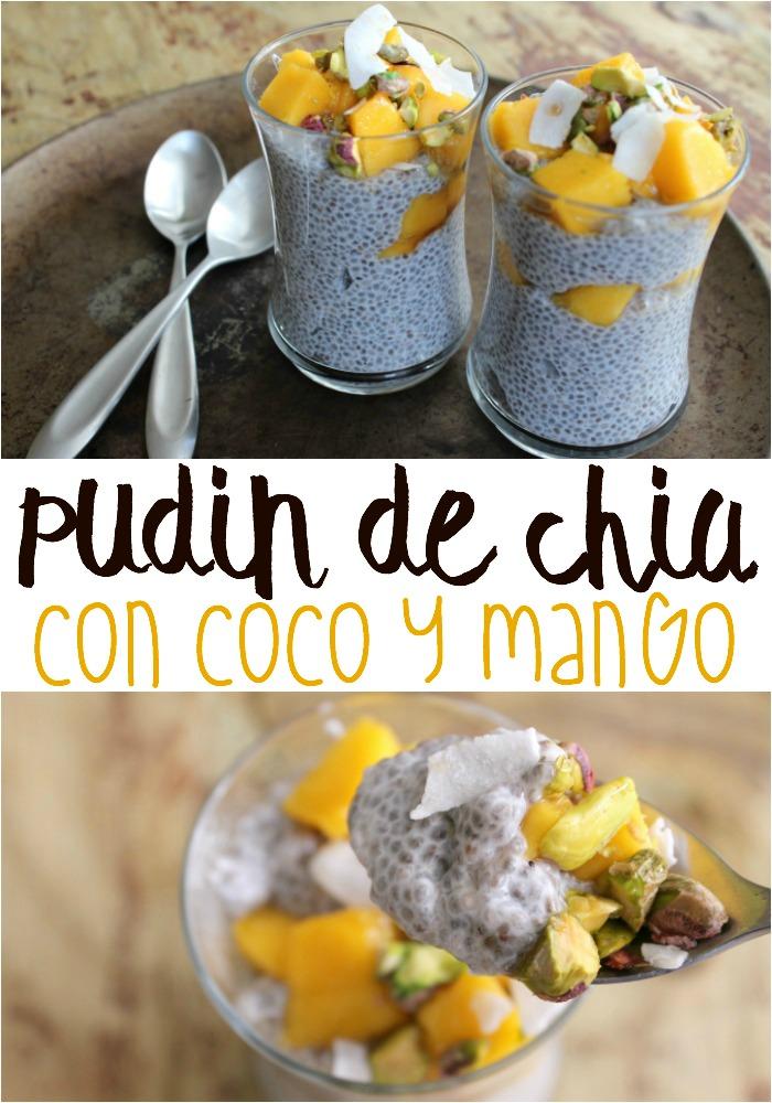 Pudín de Chia con Coco y Mango | Mamá Contemporánea