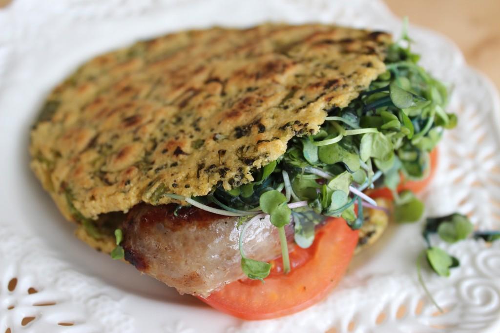 Arepa Fit de brocoli, cebollín y cilantro | Mamá Contemporánea #arepasfit