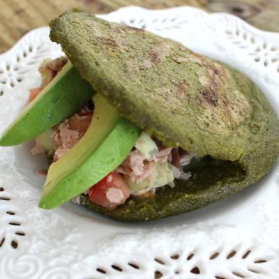 Receta: Arepa Fit de Espinaca, Kale (Col Rizada) y Cilantro