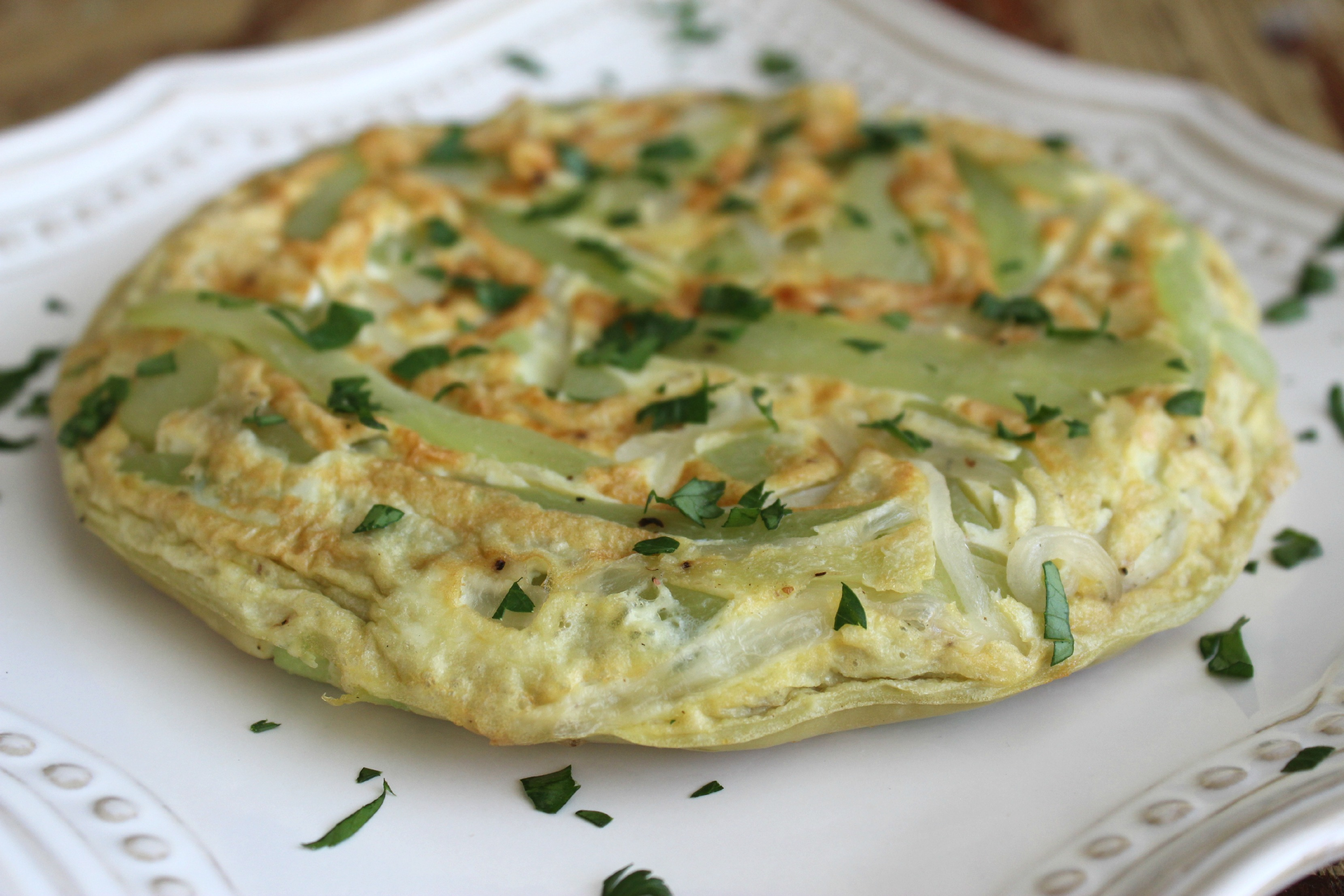 Tortilla Espa Ola Fit Con Chayota ~ Tortilla De Patatas Baja En Calorias