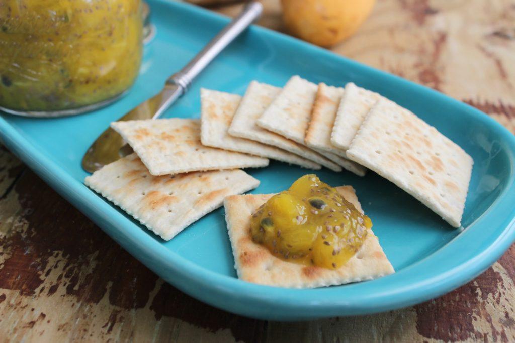 Mermelada Saludable de Mango, Jengibre, Parchita y Chia