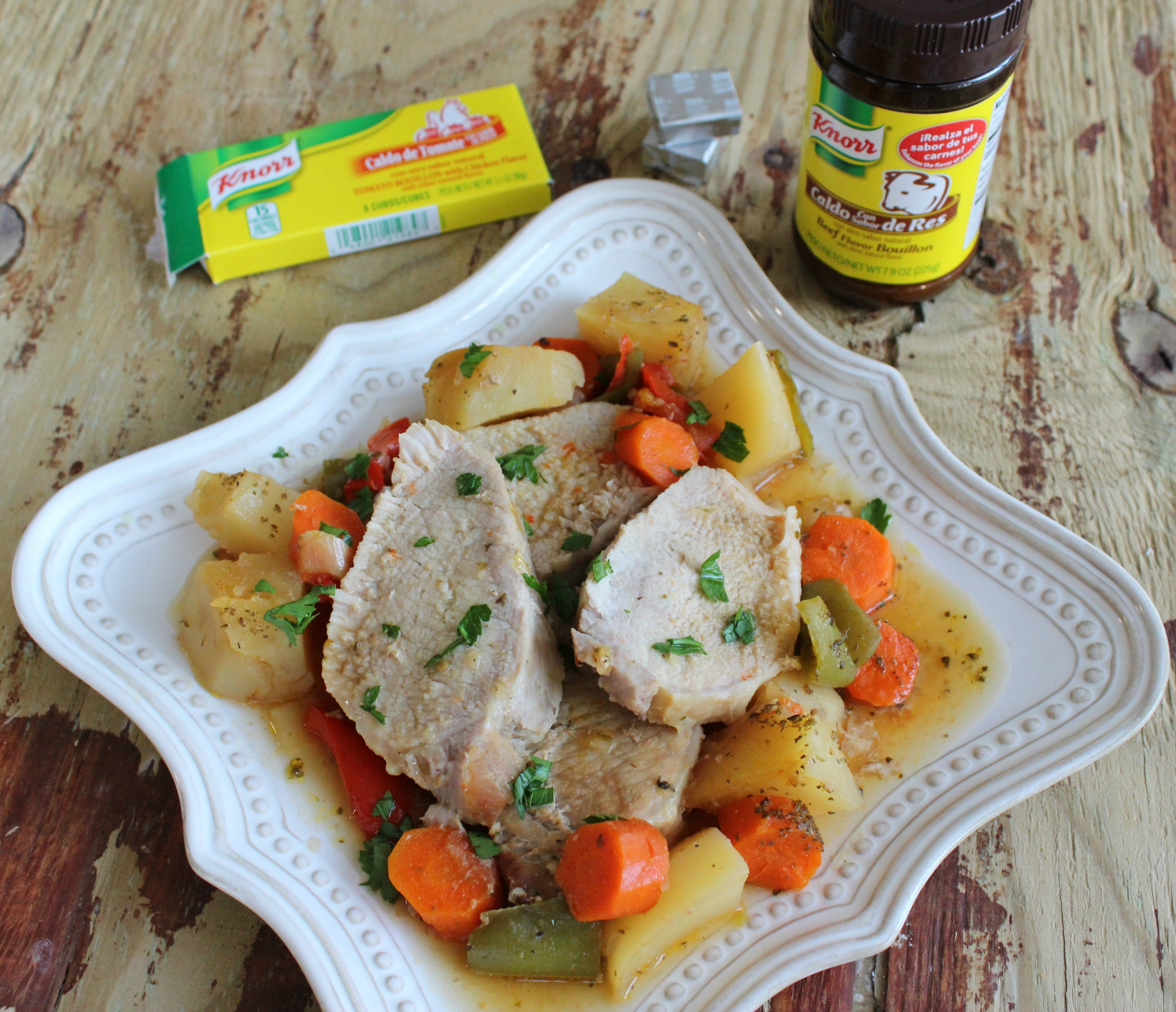 Pork Loin with Potatoes and Carrots