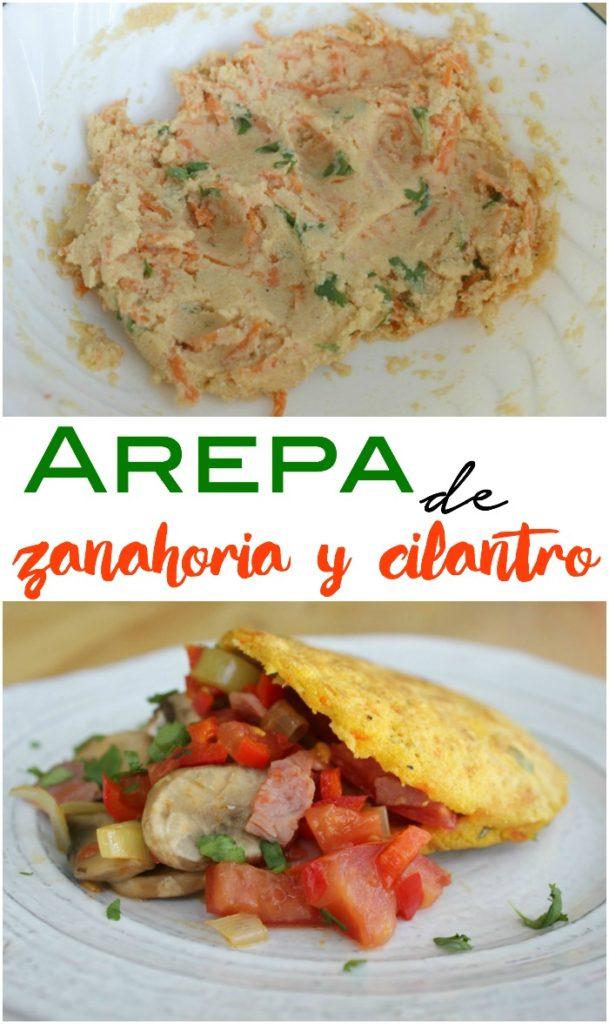 Arepa Fit de Zanahoria y Cilantro