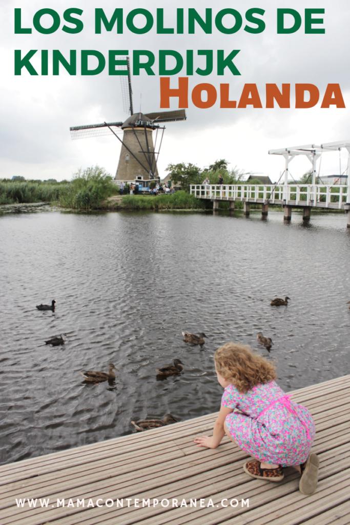 Los Molinos de Viento de Kinderdijk en Holanda