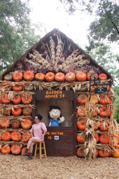 Dallas Arboretum Otoño Charlie Brown Snoopy