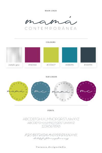 Logo e identidad de marca | Mamá Contemporánea
